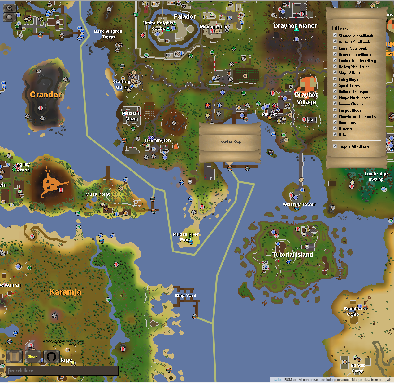 RSMap - How I mapped oldschool runescape with leaflet